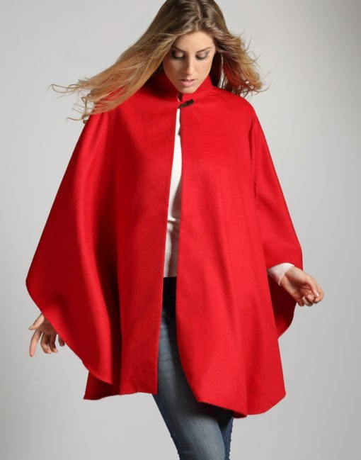 baby alpaca red cape