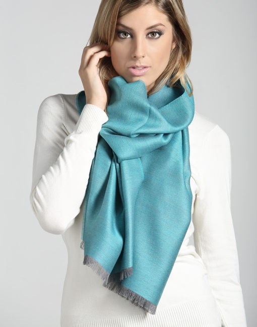 doubleface grey turquoise