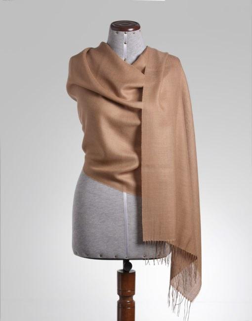 shawl plain camel