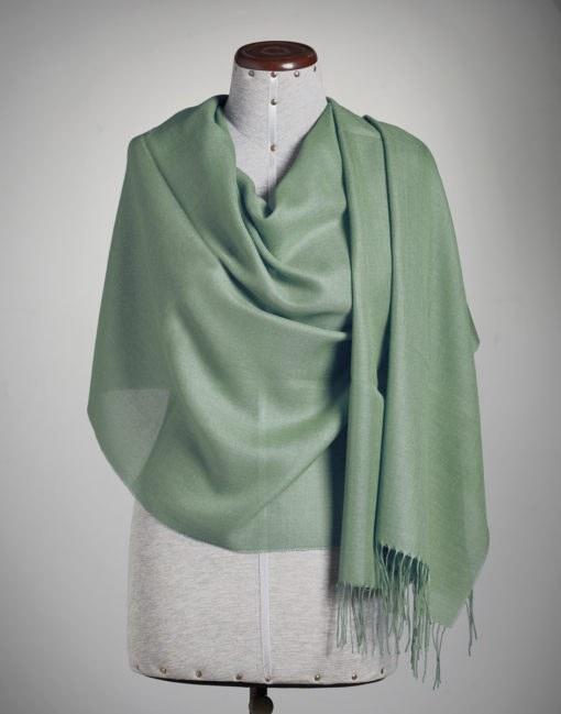 shawl plain frost green