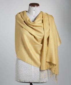 shawl plain honey mustard