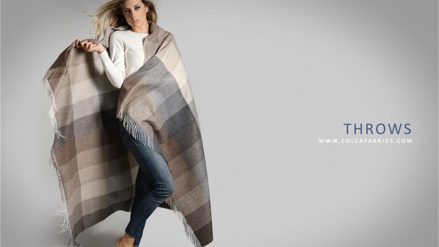COLCA FABRICS STOCK SERVICE THROWS BLANKETS 2019 page 001