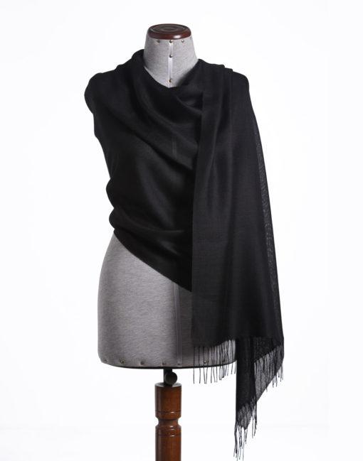shawl plain black